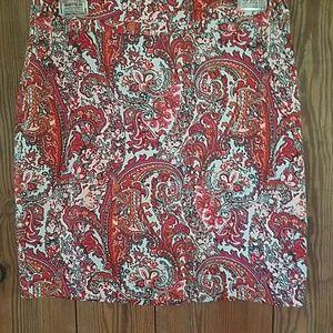 Paisley pattered skirt